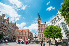 Square in Gdansk, Poland, Europe. Stock Images