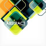 Square geometric abstract background, paper art design for cover design, book template, poster, cd cover illustration. Flyer, website background vector illustration