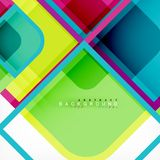 Square geometric abstract background, paper art design for cover design, book template, poster, cd cover illustration. Flyer, website background royalty free illustration