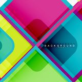 Square geometric abstract background, paper art design for cover design, book template, poster, cd cover illustration. Flyer, website background stock illustration