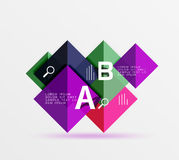 Square geometric abstract background Stock Image