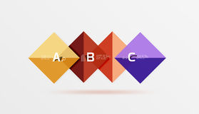 Square geometric abstract background Royalty Free Stock Photos