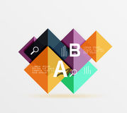 Square geometric abstract background. Vector template background for workflow layout, diagram, number options or web design Royalty Free Stock Photo