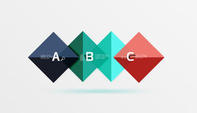 Square geometric abstract background Royalty Free Stock Image