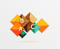 Square geometric abstract background Royalty Free Stock Images