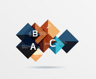 Square geometric abstract background. Vector template background for workflow layout, diagram, number options or web design Royalty Free Stock Images