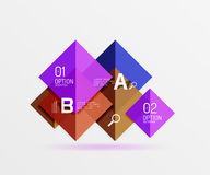 Square geometric abstract background Stock Photos