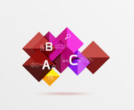 Square geometric abstract background. Vector template background for workflow layout, diagram, number options or web design Royalty Free Stock Image