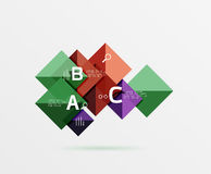 Square geometric abstract background Stock Images