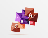 Square geometric abstract background Stock Photography