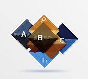 Square geometric abstract background. Vector template background for workflow layout, diagram, number options or web design Stock Photo