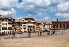 Square before Giardino di Boboli Royalty Free Stock Images