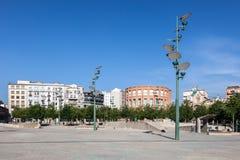 Square in Girona, Spain Stock Photo
