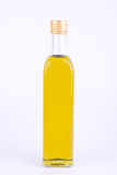 Square glass bottle of olive oil  Royalty Free Stock Images