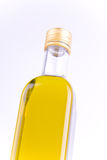 Square glass bottle of olive oil isolated. On white background Stock Images