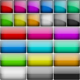 Square Glossy Buttons Stock Image