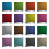 Square glossy icons Royalty Free Stock Photography