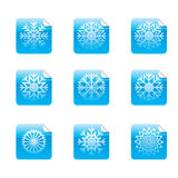 Square Glossy Stickers Stock Photos