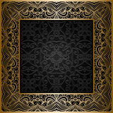 Square gold frame Royalty Free Stock Photo