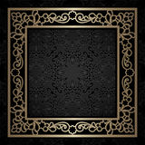 Square gold frame, vintage background Royalty Free Stock Photography