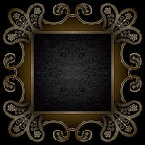 Square gold frame Stock Photo