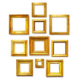 Square gold frames Royalty Free Stock Photography