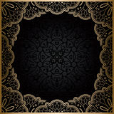 Square gold lace frame Royalty Free Stock Photography