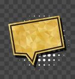 Square gold sparkle comic text bubble Stock Photography
