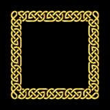 Square golden celtic knots vector frame Stock Image