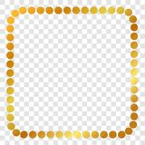 Square Golden Dot Frame, For Certificate, Placard, Backdrop, And Other, At Transparent Effect Background Stock Photography