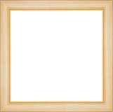 Square golden frame. Isolated on white background, clipping path for easier inserting included inside the frame Stock Image