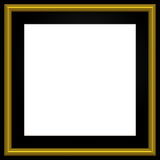 Square Golden Photo Frame Royalty Free Stock Photos