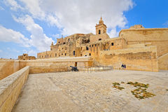 Square of Gozo fortress, Ir-Rabat Royalty Free Stock Photos