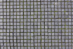 Square granite sidewalk stones background Stock Photography