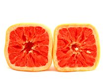 Square grapefruit Stock Image