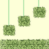 Square grass balls Royalty Free Stock Images