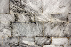 Square gray granite wall Royalty Free Stock Images