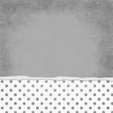 Square Gray and White Polka Dot Torn Grunge Textured Background Stock Photos