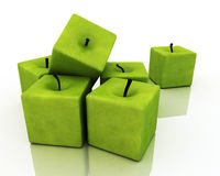 Square Green Apples. Stock Images