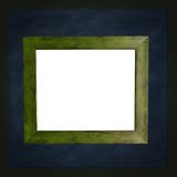 Square green chalkboard with white frame Royalty Free Stock Photography