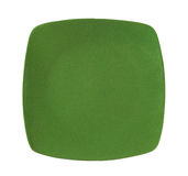 Square green dinner plate Stock Image