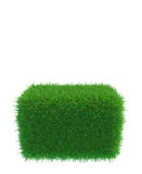 Square of green grass field over white background. 3d rendering Stock Images