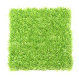 Square of green grass field royalty free stock images