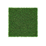 Square of green grass field on white. 3D illustration. Square of green grass field on white background. 3D illustration Stock Photo