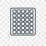 Square Grid concept vector linear icon isolated on transparent b stock illustration