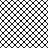 Square Grid Seamless Pattern. Black, gray, and white square grid with white circles seamless pattern Stock Illustration