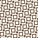 Square grid texture. Pythagorean tiling motif. Seamless pattern design with classic ornament. Geometric background Stock Photos