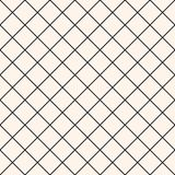 Square grid vector seamless pattern. Mesh, lattice, grill texture. Royalty Free Stock Photo