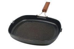 Square grill pan Stock Photos
