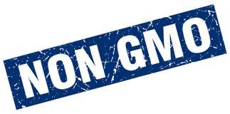 Square grunge non gmo stamp Stock Images